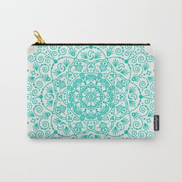 Moroccan Mandala – Turquoise Palette Carry-All Pouch