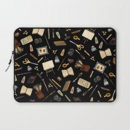 Creative Artist Tools - Watercolor on Black Laptop Sleeve