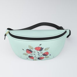 Happy strawberry characters Fanny Pack