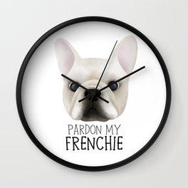 Pardon My Frenchie - French Bulldog Wall Clock