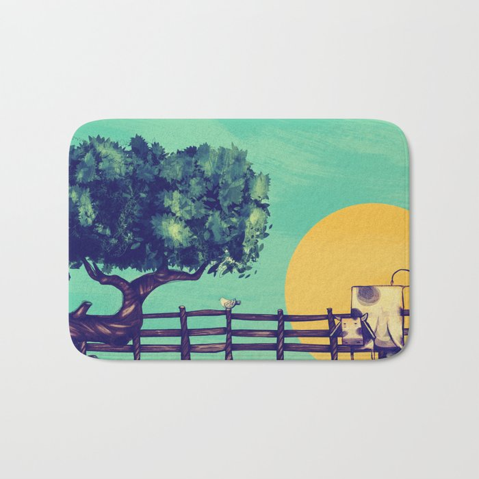 Cow Sunset Bath Mat
