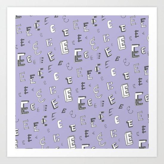 Letter Patterns, Part E Art Print