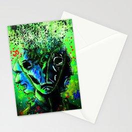 Split-face Green Stationery Cards