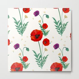 poppies blossom Metal Print