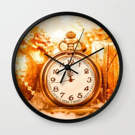 New Year Wishes Wall Clock