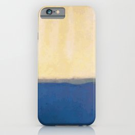 Plain color blue and white art print iPhone Case