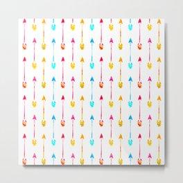 Multi Colored Tiny Arrows Pattern Metal Print