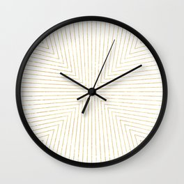 Converge Four Gold Wall Clock