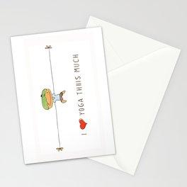 I love yoga boy Stationery Cards