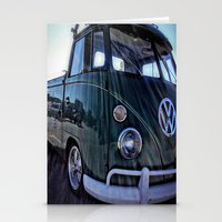 vw Stationery Cards featuring vintage vw by Joedunnz
