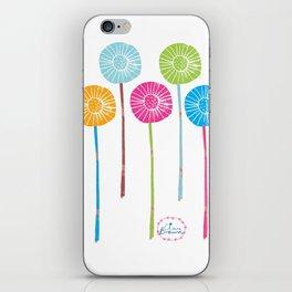 Lino Cut Flowers iPhone Skin