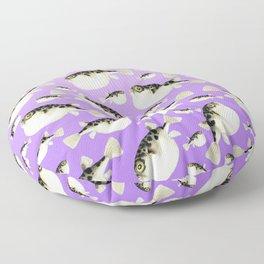 Puffer Fish Violet Purple Pattern Floor Pillow