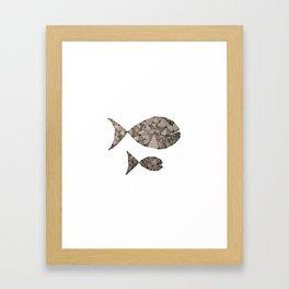 big fish small fish Framed Art Print