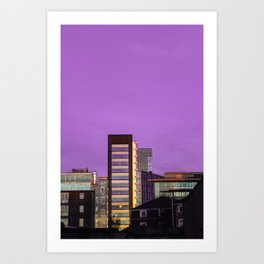 Dublin - Purple sky Art Print