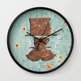 Rusty coffee shop sign Wall Clock