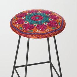 Colorful Mandala Pattern 017 Bar Stool