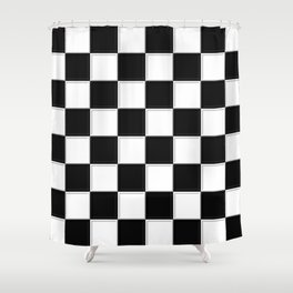 checkers Shower Curtain