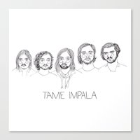 tame impala Canvas Prints featuring Tame Impala by ☿ cactei ☿
