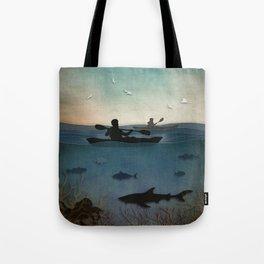 Sea Kayaking Tote Bag