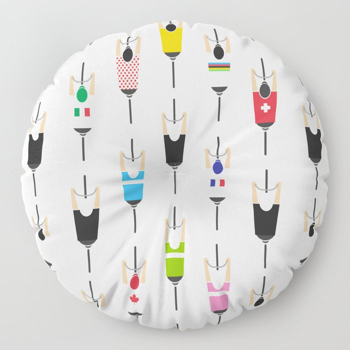 Bicycle squad Floor Pillow