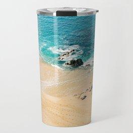 A walk on the beach Travel Mug