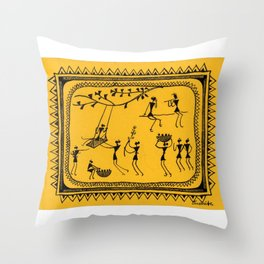 The Swings (Sasmita Hial) Throw Pillow