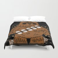 chewbacca Duvet Covers featuring chewbacca wookiee by trevacristina