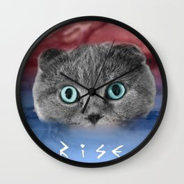 Scottis Fold Cat- Kitten Katy Wall Clock