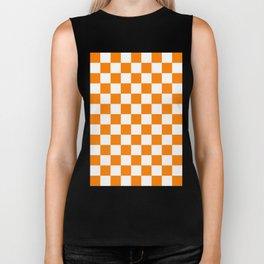 Checker (Orange/White) Biker Tank