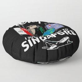 Singapore flag I Singapore Souvenirs Floor Pillow