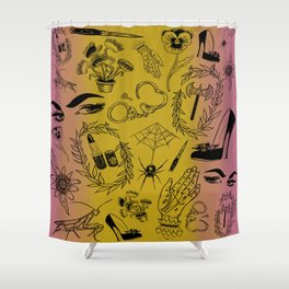 Queer Femme Fatale Shower Curtain