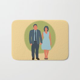 Save the Date - The Couple - Love Bath Mat
