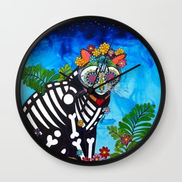 Pebbles the Angel Kitty Wall Clock