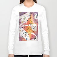 splatter Long Sleeve T-shirts featuring splatter by Glossy Eyes