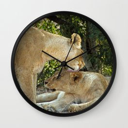 Lioness Pride Wall Clock