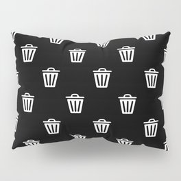 trash can pattern Pillow Sham
