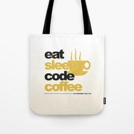 Programmer - eat sleep code coffee Tote Bag