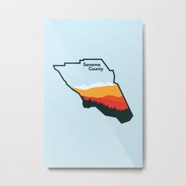 Sonoma County Metal Print