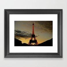 Tower Sunset Framed Art Print