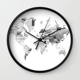 World News Wall Clock