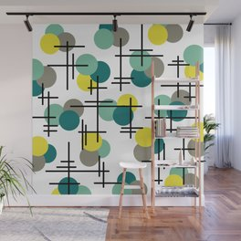 Atomic Age Molecules Wall Mural