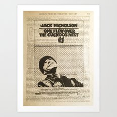 One Flew Over The Cuckoo's Nest Art Print