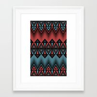 ethnic Framed Art Prints featuring ethnic by Sezgen
