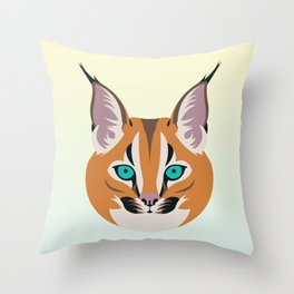Caracal linx Throw Pillow