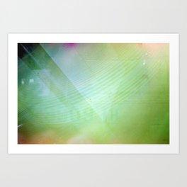 Damaged Disposable Camera Film - Double Exposure Fan 2 Art Print