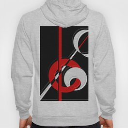 Black and white meets red version 28 Hoody