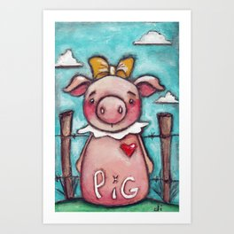 PIG - by Diane Duda Art Print