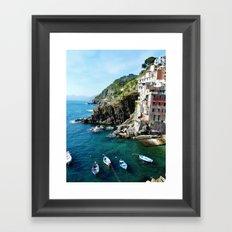 Riomaggiore Harbor Framed Art Print