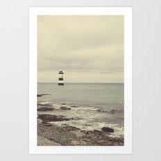 Pen Mon lighthouse Art Print