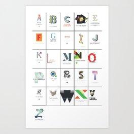 The ABC Project [Minimal] Art Print